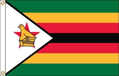 FW-140-ZIMBABWE Zimbabwe 2' x 3' Outdoor Nylon Flag with Heading and Grommets-0