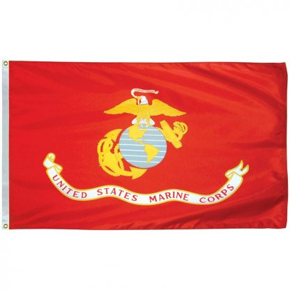 AFF-904 Marine Corps 5' x 8' Outdoor Nylon Flag with Heading and Grommets-0