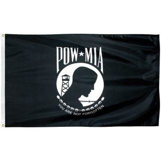 PWS-46-P POW-MIA 4' x 6' Economy Polyester Flag with Heading and Grommets-0