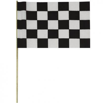 "BWS-12M Checkered 12"" x 18"" Staff Mounted Muslin (cotton-like) Flag-0"