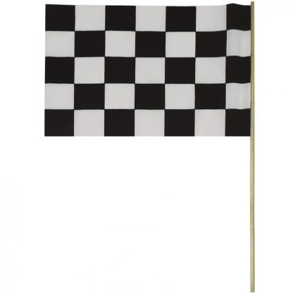 "BWS-12M Checkered 12"" x 18"" Staff Mounted Muslin (cotton-like) Flag-42697"