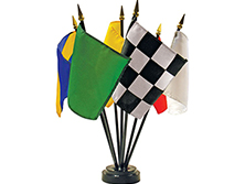 Auto Racing Flag Mini Desk Set of 7
