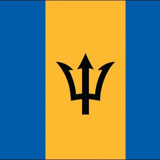 035022 Barbados 6' x 10' Outdoor Nylon Flag with Heading and Grommets-0