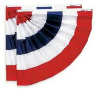 PHF-033 Pleated Half Fans ( Red, White, And Blue) 3' x 3' For Each Side Of Center-0