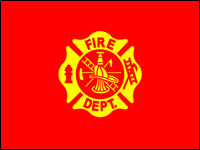 070283 Fire Department 3' x 5' Outdoor Nylon Flag with Heading and Grommets-0
