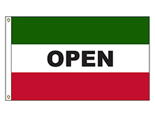 Open - Green and Red