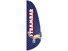 Steam Bar Feather Flag