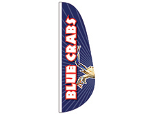 Blue Crabs Feather Flag