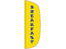 Breakfast Flutter Feather Flag