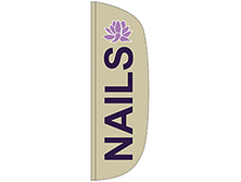 Nails Flutter Feather Flag