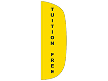 Tuition Free Flutter Feather Flag