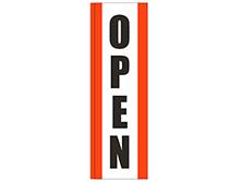 Open (Orange) Square Feather Flag