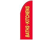 Baths & Kitchens Half Drop Feather Flag