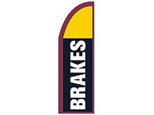 Brakes Half Drop Feather Flag