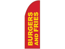 Burger & Fries Half Drop Feather Flag
