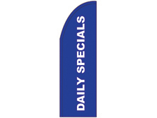 Daily Specials Half Drop Feather Flag
