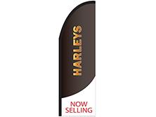 Harleys Half Drop Feather Flag