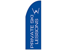 Private Ski Lessons Half Drop Feather Flag