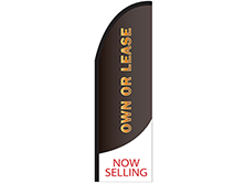 Own or Lease Half Drop Feather Flag