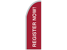 Register Now Half Drop Feather Flag