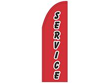 Service Half Drop Feather Flag
