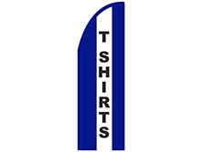 T-Shirts Half Drop Feather Flag