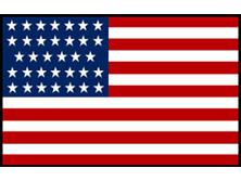 U.S. Civil War - 34 Stars