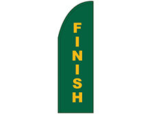 Finish Half Drop Feather Flag