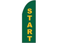 Start Half Drop Feather Flag