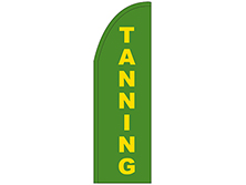 Tanning Half Drop Feather Flag
