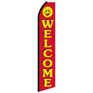 SWOOP-002 12' Digitally Printed Welcome Swooper Banner-0
