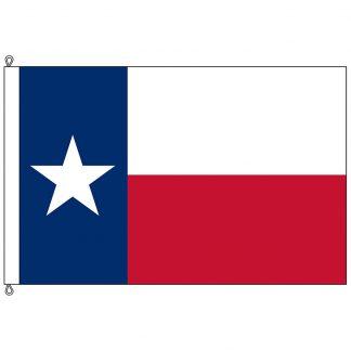 SF-1525-TEXAS Texas 15' x 25' Nylon Flag with Rope & Thimble-0