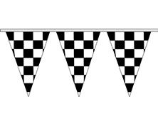 "12''x18"" Triangular 4 Mil Checkered Pennant Strings"