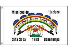 Cheyenne River Sioux Tribe Flag
