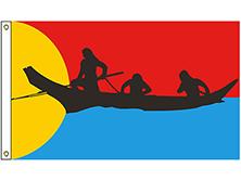 Clatsop Nehalem Brigade Tribe Flag