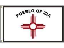 Zia Pueblo Tribe Flag