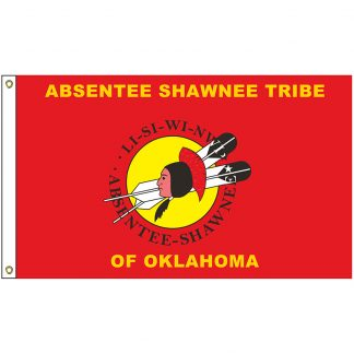 NAT-3x5-ABSENTEE 3' x 5' Absentee Shawnee Tribe Flag With Heading And Grommets-0