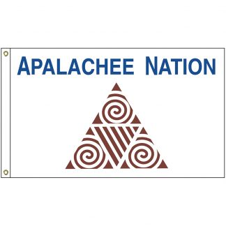NAT-2x3-APALACHEE 2' x 3' Apalachee Nation Tribe Flag With Heading And Grommets-0