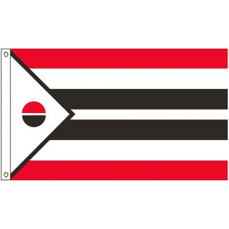 NAT-3x5-ARAPAHO 3' x 5' Arapaho of the Wind River Tribe Flag With Heading And Grommets-0