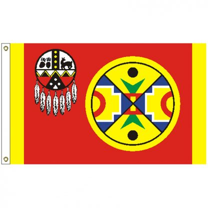 NAT-5X8-AROOSTOOK 5' x 8' Aroostook Band of Mi'Kmaq Indians Tribe Flag With Heading And Grommets-0