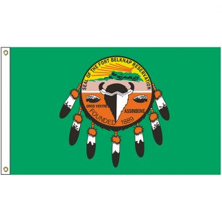 NAT-3X5-ASSINIBOINE 3' x 5' Assiniboine & Gros Ventre Tribe Flag With Heading And Grommets-0