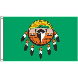 NAT-3X5-ASSINIBOINE 3' x 5' Assiniboine & Gros Ventre Tribe Flag With Heading And Grommets-0
