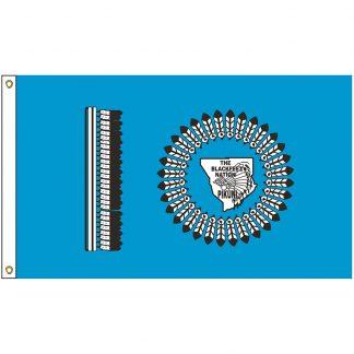 NAT-3x5-BLACKFEET 3' x 5' Blackfeet Nation Tribe Flag With Heading And Grommets-0