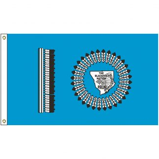 NAT-2x3-BLACKFEET 2' x 3' Blackfeet Nation Tribe Flag With Heading And Grommets-0