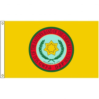NAT-4x6-CHEROKEE 4' x 6' Cherokee Eastern Band Tribe Flag With Heading And Grommets-0