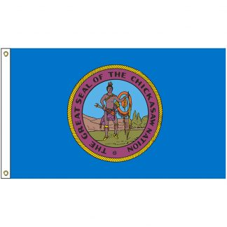 NAT-5x8-CHICKASAW 5' x 8' Chickasaw Tribe Flag With Heading And Grommets-0