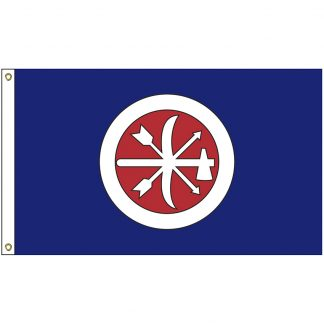 NAT-3x5-CHOCTAW 3' x 5' Choctaw Brigade Tribe Flag With Heading And Grommets-0