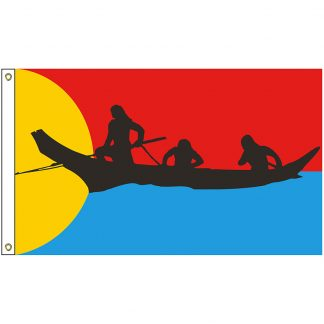 NAT-2x3-CN 2' x 3' Clatsop Nehalem Tribe Flag With Heading And Grommets-0
