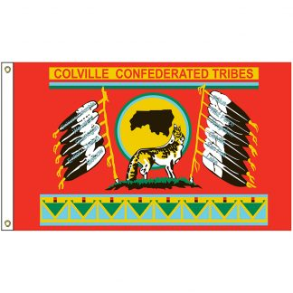 NAT-5x8-CCT 5' x 8' Colville Confederated Tribes Flag With Heading And Grommets-0