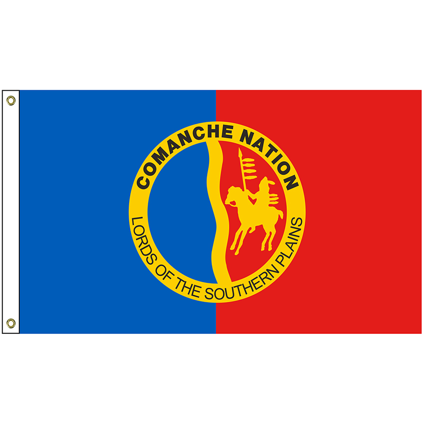 Nat 5 8 Comanche 5 X 8 Comanche Nation Tribe Flag With Heading And Grommets Hanover Flag Company